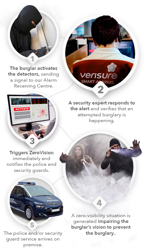 Alarma con Humo Antirrobo - protocolo